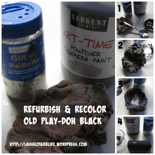 Refurbish and Recolor Play-Doh Black