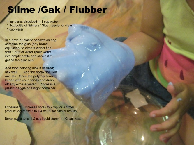 How to make Gak, Slime, or Flubber