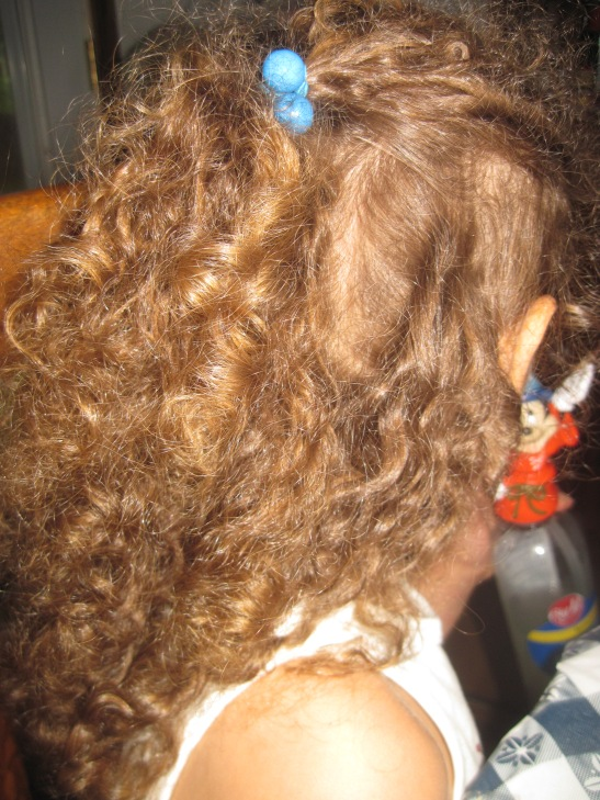 The curls were less than tamed.