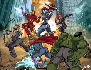 http://www.elephantjournal.com/2012/05/what-if-the-male-avengers-posed-like-the-female-one/