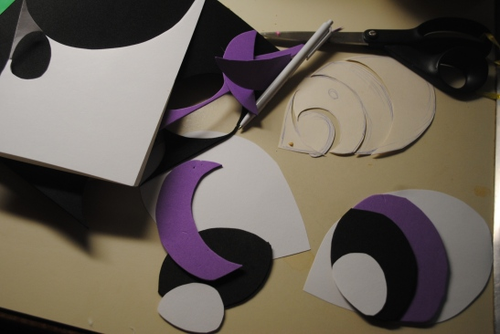 Craft foam and a free-hand template.