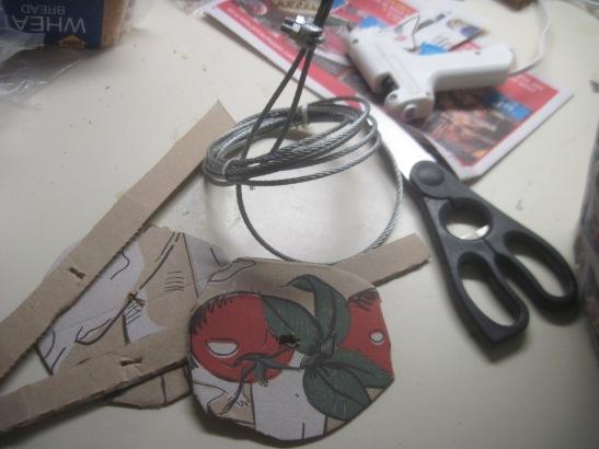 Improvising a hook.
